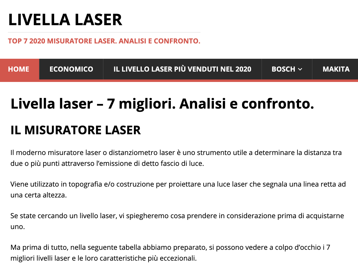 Livelli laser