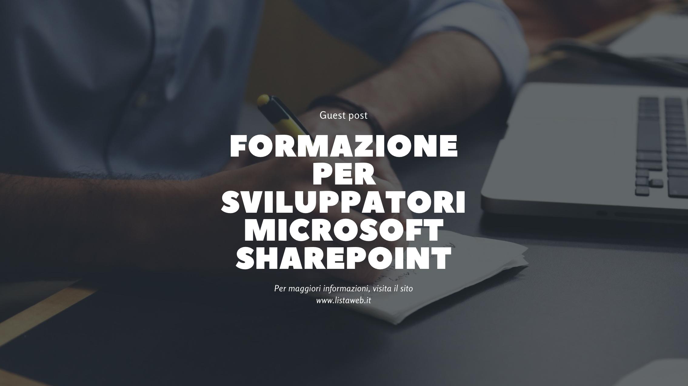 Formazione per sviluppatori Microsoft SharePoint